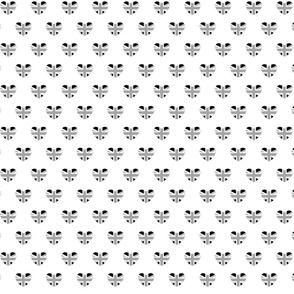 British Hearts - Union Jack White & Black - Small