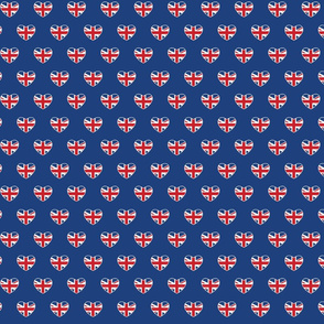 British Hearts - Union Jack Blue