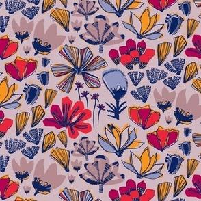 Painted Flowers Lavender