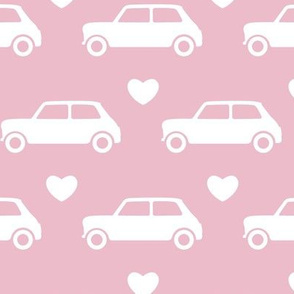 Mini Cooper Hearts - Pink - Large
