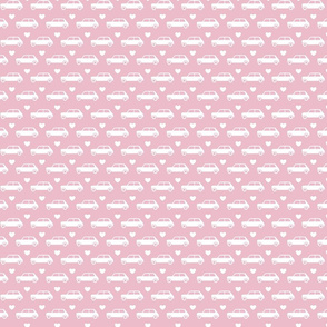 Mini Cooper Hearts - Pink - Small