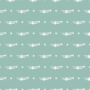 Trumpet Dots - Light Green