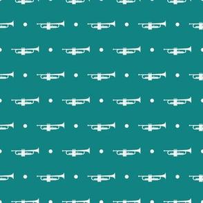 Trumpet Dots - Teal