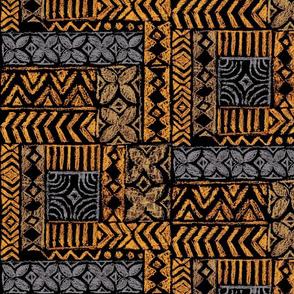 Native Tapa-marigold tan grey