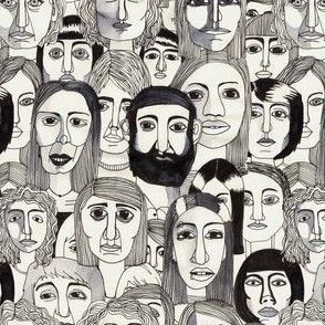 faces in the tube