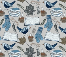 Cozy Reading - Folk Art Hygge Style