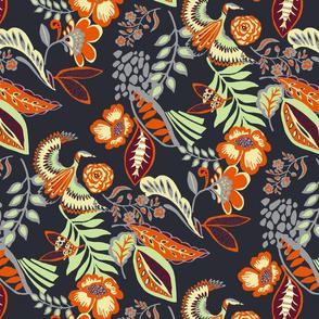 Oriental heron floral