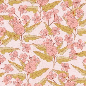 Block print flowers pink-nanditasingh