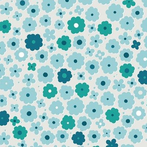 Blue and teal flowers-nanditasingh