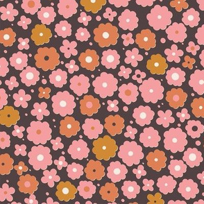 Brown and pink flowers-nanditasingh