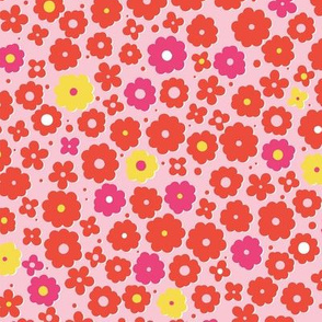 Pink and red flowers-nanditasingh