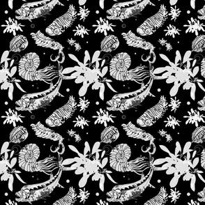 Black Paleofishdesigns Fabric Medium