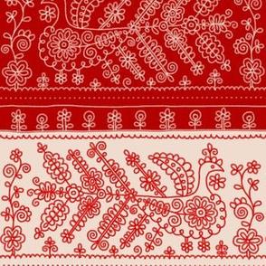 Karelian birds embroidery