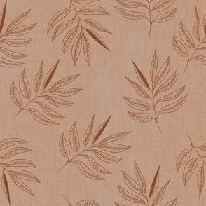 Leaves -  terracotta