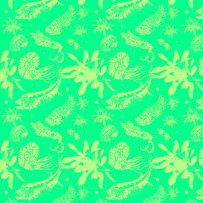 Green Paleofish Fabric Mediums