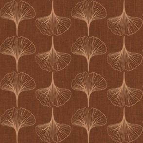 Ginkgo bilboa leaves-terracotta