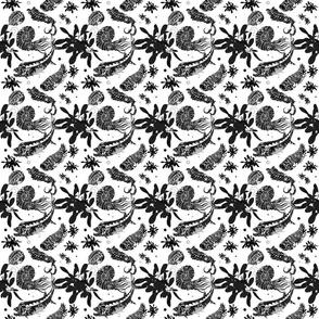White Paleofish Fabric Small