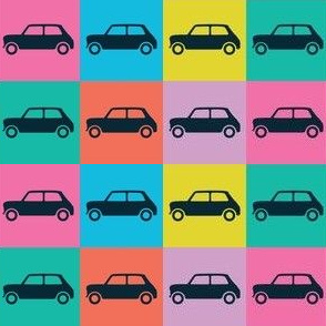 Mini Cooper Squares - Funky Fun