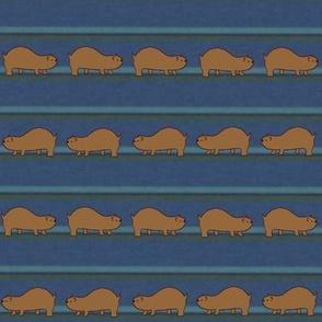 Lemmings on Blue Stripes