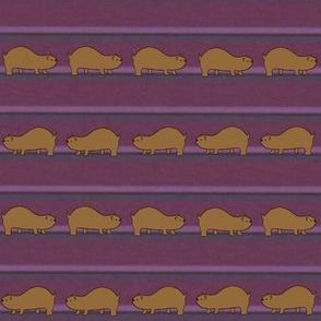 Lemmings on Pink & Purple Stripes