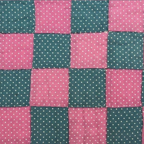Grandma Martha's Quilt in Pink & Turquoise