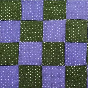 Grandma Martha's Quilt in Green & Purple