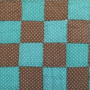 Grandma Martha's Quilt in Brown & Teal