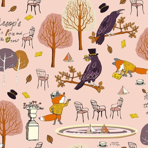 The Fox and the Crow Autumn Pink