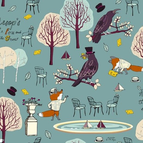 The Fox and the Crow Winter Teal