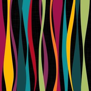 colorful bohemian waves dark