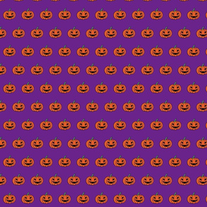 EVIL PUMPKINS purple background