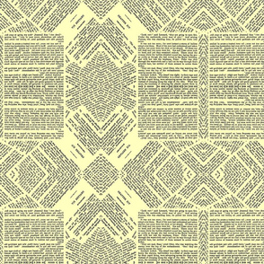 pages from a book tribal pattern