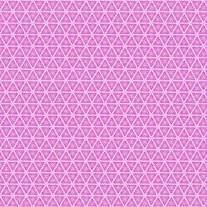 Fuchsia Pink Triangles