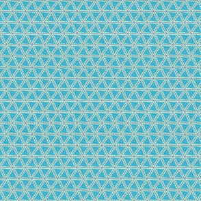 Turquoise Blue and Beige triangles