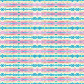 Abstract Quilt Stripes in turquoise, pink and greenish beige