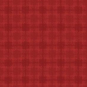 Christmas Check - red