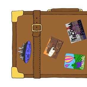Travel Luggage Tea Towel