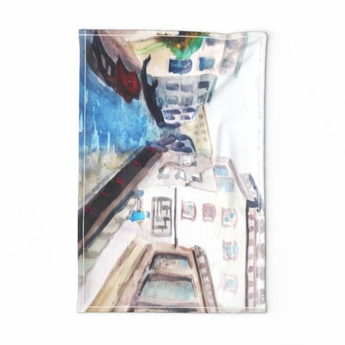 Venice Vintage Travel Tea Towel