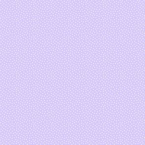 White 2 mm polka dots on lavender ground
