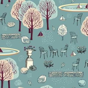 Jardin de Paris Teal