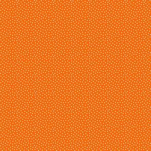 White 2 mm polka dots on orange ground