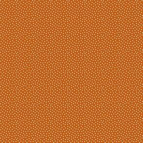 White 2 mm polka dots on autumn brown ground