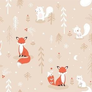 Woodland Christmas beige