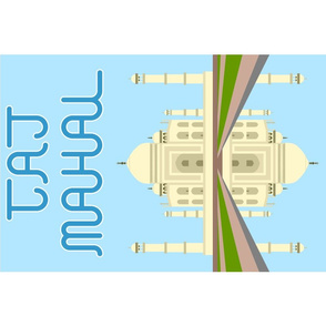 10729529 © Taj Mahal tea-towel