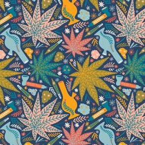 Mask scale / Marijuana and flowers