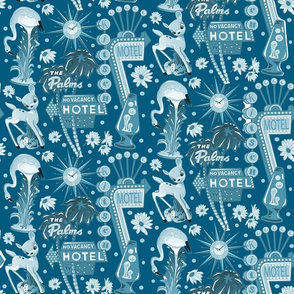 MOTEL KITSCH Retro blue