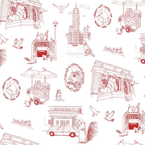 NYC Toile Red
