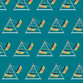 Boat Swings - Teal