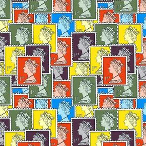 Retro Kawaii Postage stamps