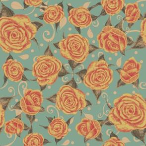 Vintage Tea Roses